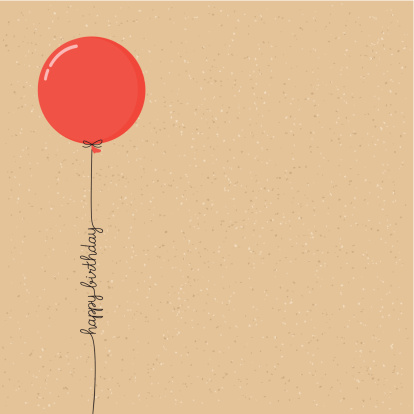 Happy birthday balloon with script