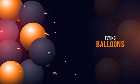 Happy Birthday balloons Colorful celebration background. stock illustration