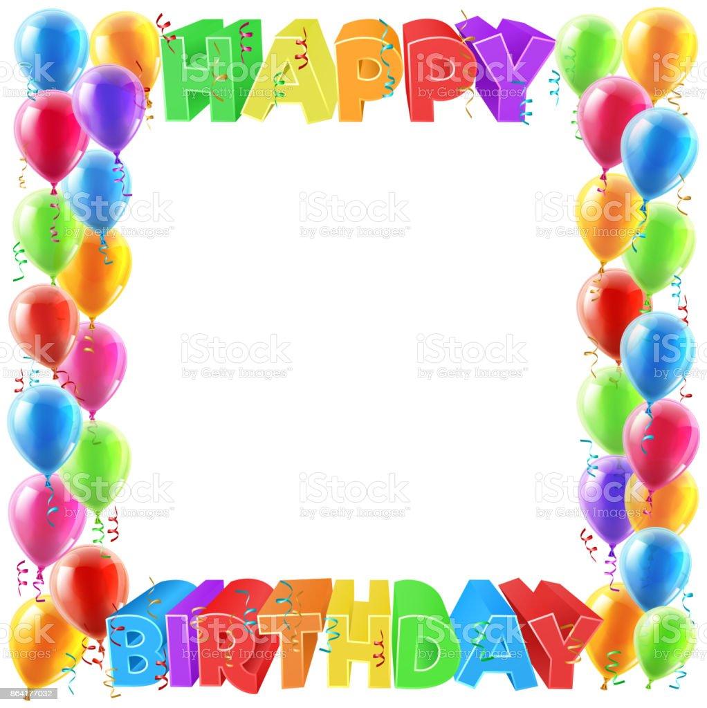 Happy Birthday Balloons Invite Border Frame royalty-free happy birthday balloons invite border frame stock vector art & more images of anniversary