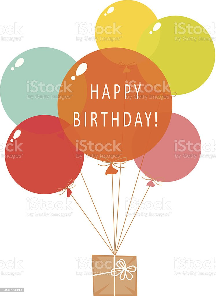 Happy Birthday balloons vector art illustration