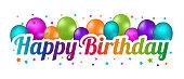 istock Happy Birthday Banner - Colorful Vector Illustration 1308390176