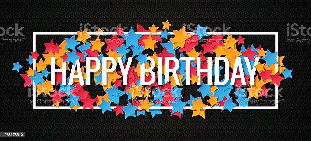 Happy Birthday Banner Design Background vector art illustration