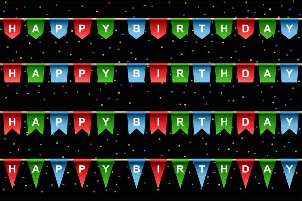 Happy Birthday banner Happy Birthday banner , vector illustration happy birthday stock illustrations