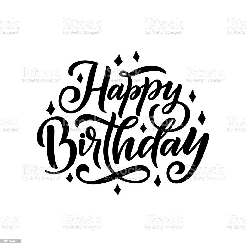 Ilustración De Feliz Cumpleaños Hermoso Saludo De Letras