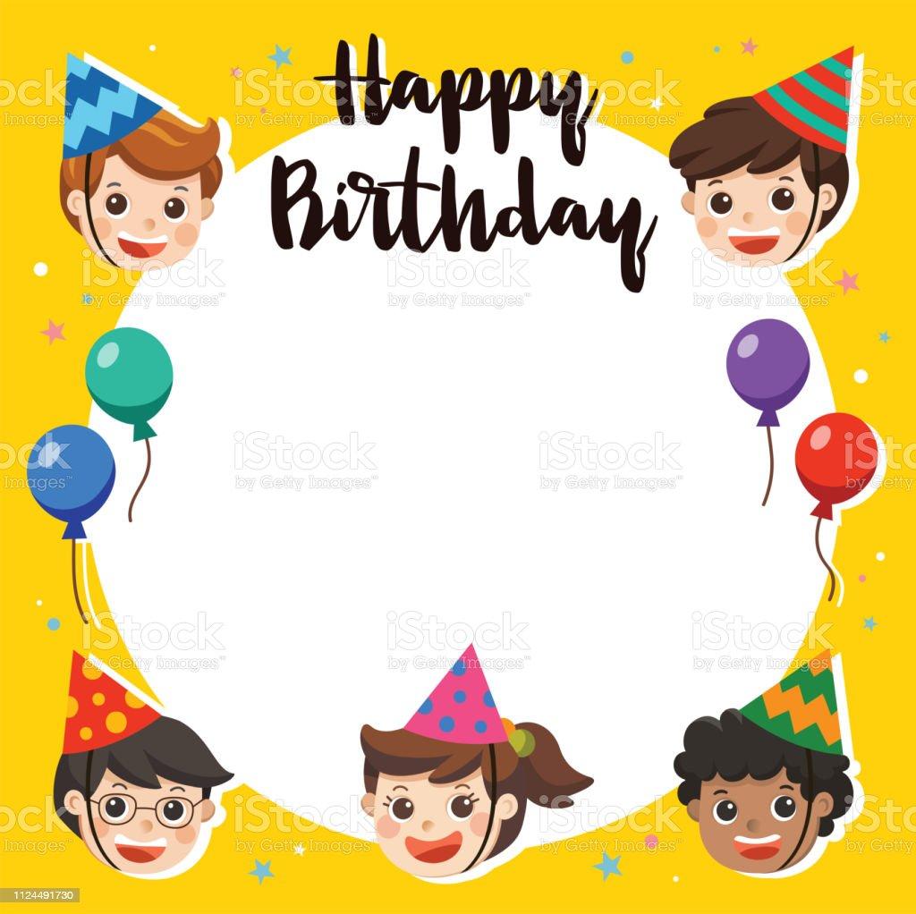 Joyeux Anniversaire Beaux Enfants Drôle Personnage Birthday Party