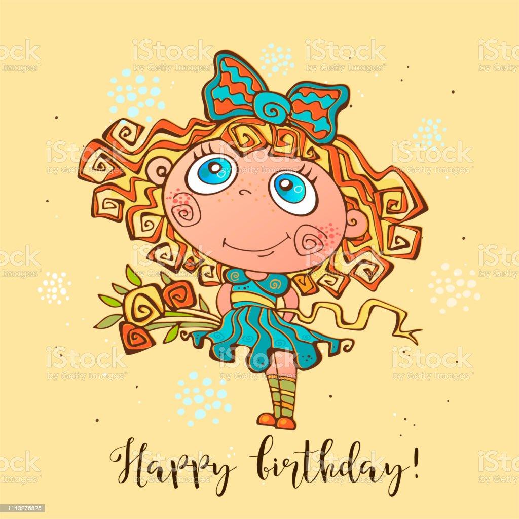 Geburtstagswünsche Karte Geburtstag.Herzlichen Glückwunsch Zum Geburtstag Geburtstagskarte Für Mädchen