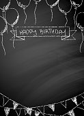 Happy Birthday blackboard