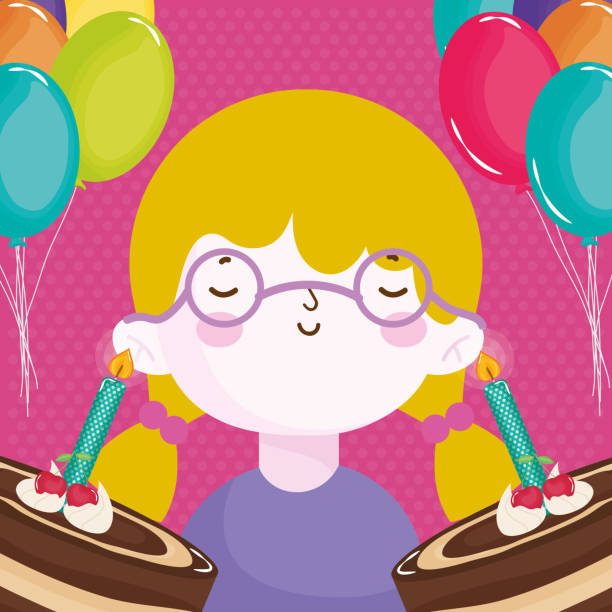 Fat Girl With Glasses Cartoons Illustrations, Royalty-Free