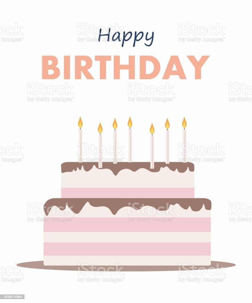 Happy birthday cake card birthday party elements stock vector art happy birthday cake card birthday party elements royalty free happy birthday cake card birthday party bookmarktalkfo Image collections