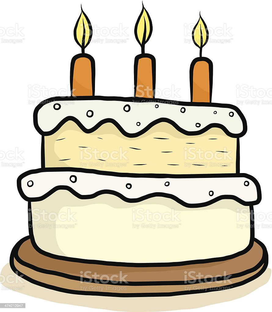 Happy Birthday Cake Cartoon Stock Vector Art More Images of Art