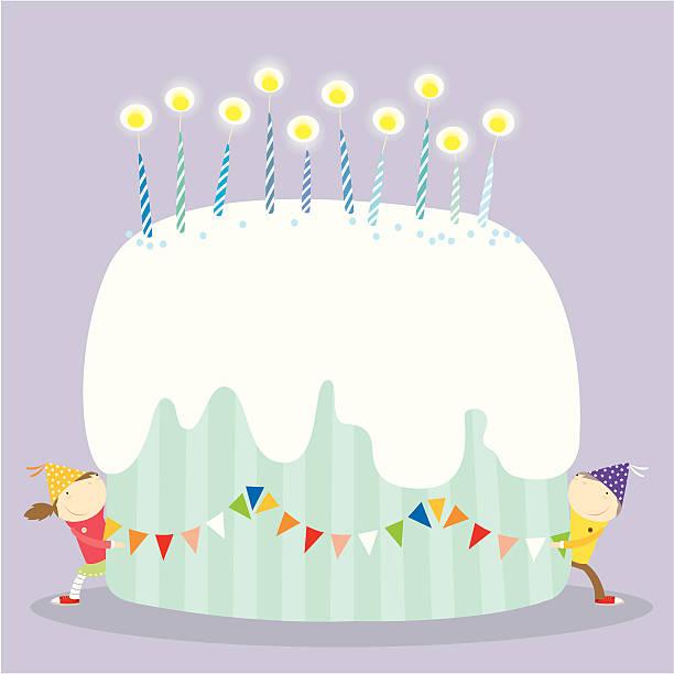 Happy birthday cake! vektorkonstillustration