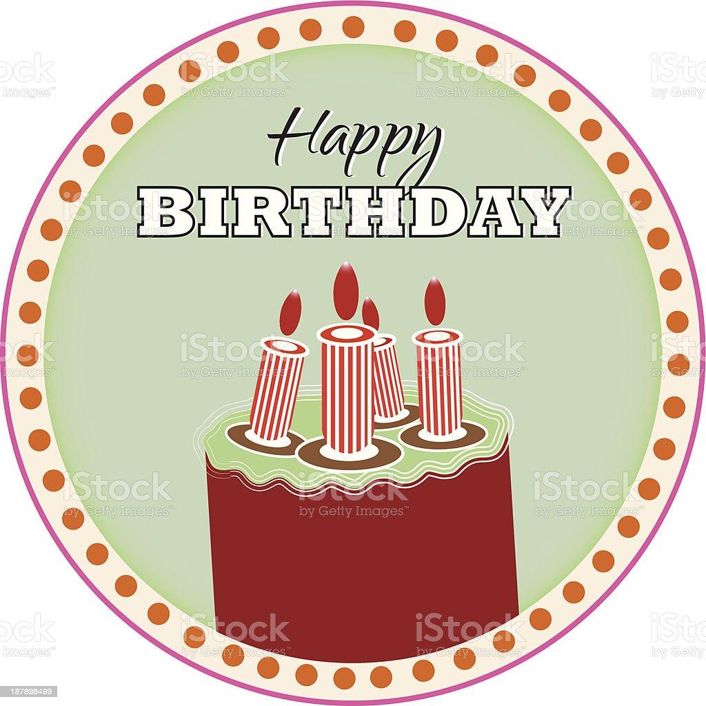 Happy Birthday Cake Lizenzfreies Stock Vektor Art Und Mehr Bilder Von 1940