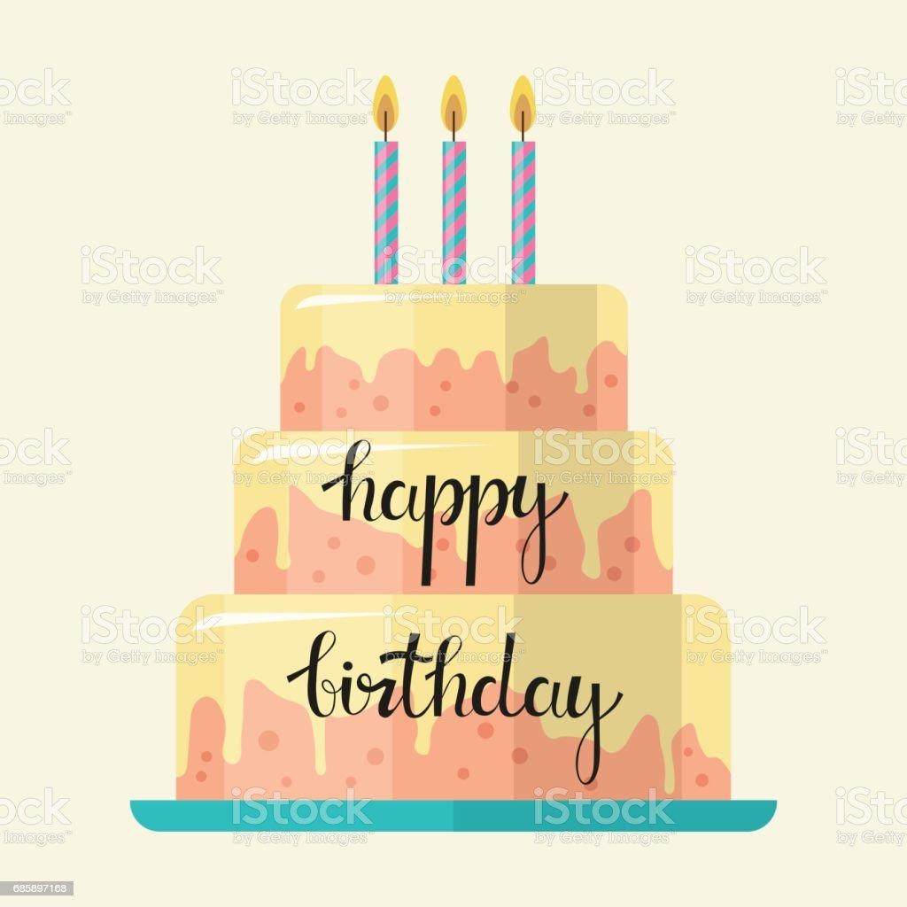 Happy Birthday Cake Lizenzfreies Stock Vektor Art Und Mehr Bilder Von Comic