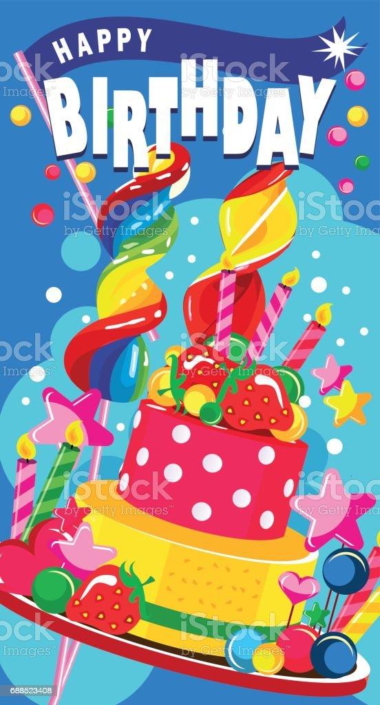 Happy Birthday Cake Lizenzfreies Stock Vektor Art Und Mehr Bilder Von Backen