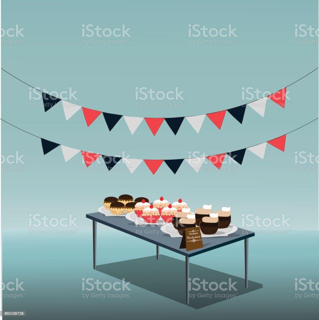 Happy Birthday Cake Lizenzfreies Stock Vektor Art Und Mehr Bilder Von Archivmaterial