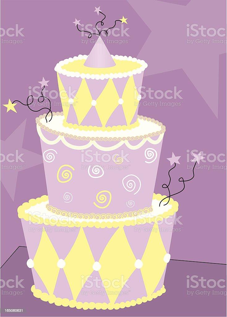 Happy Birthday Cake Vector royalty-free stock vector art