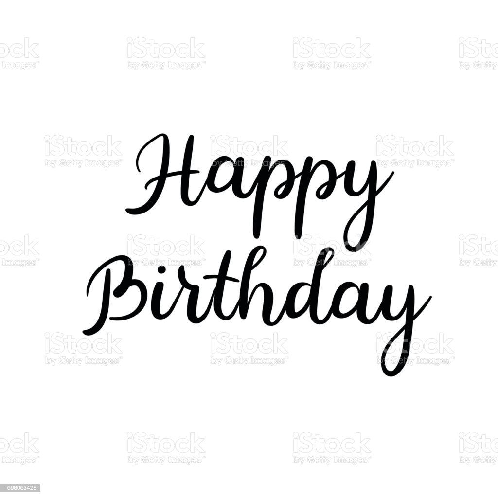 Happy birthday calligraphy inscription on white background Images of calligraphy