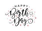 Happy Birthday Calligraphy