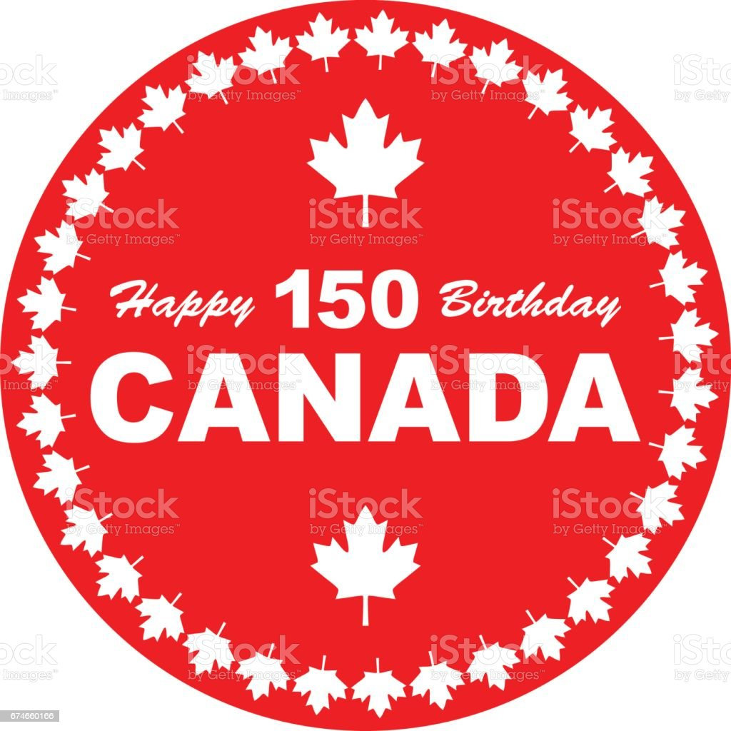 Happy Birthday Canada 150 Stock Vector Art & More Images
