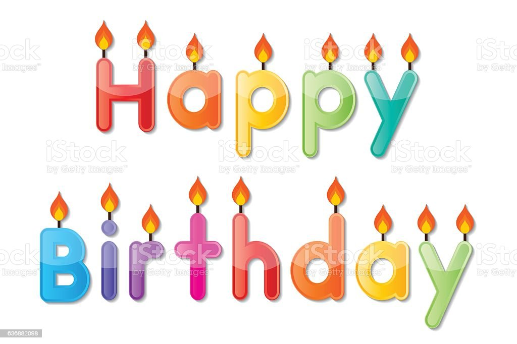 Happy Birthday Candle Royalty Free Stock Vector Art Amp More Images