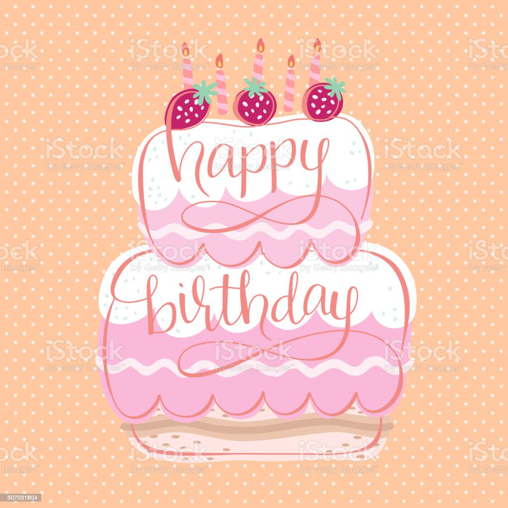 Happy Birthday Card Design Lizenzfreies Stock Vektor Art Und Mehr Bilder Von