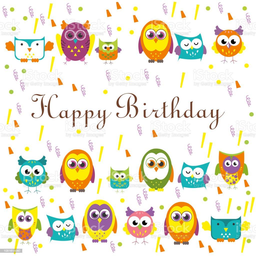 Alles Gute Zum Geburtstag Kartendesign Vektorillustration Stock