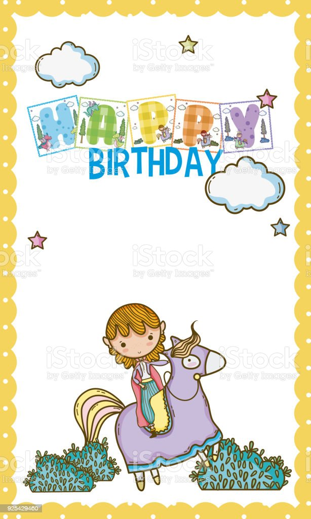 Happy Birthday Card For Little Boy Stock Vector Art More Images Of