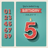 Happy birthday card invitation