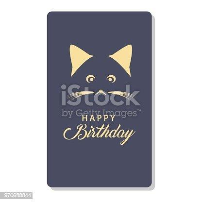 Happy Birthday Card Logo Vector Template Design Stock Vector Art