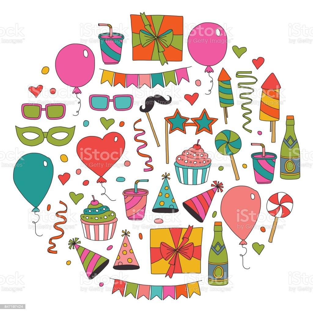 Modèle De Carte Anniversaire Heureux Enfants Dessin Enfants