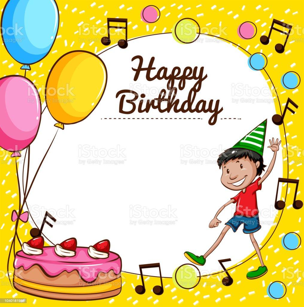 幸せな誕生日カード テンプレート お祝いのベクターアート素材や画像を
