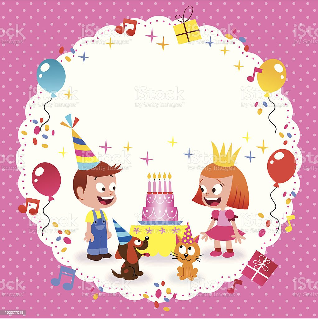Happy Birthday Card Template Royalty Free Happy Birthday Card Template  Stock Vector Art U0026amp;