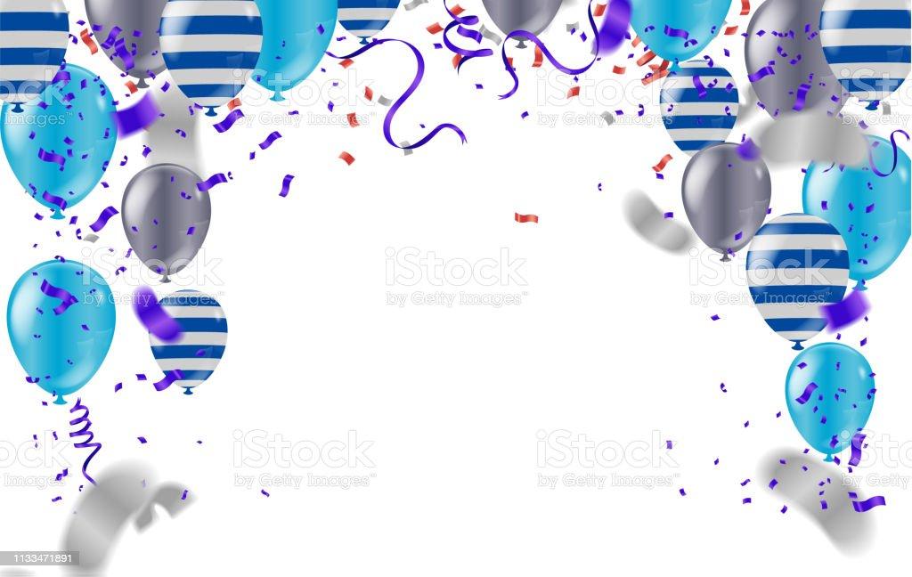 Peachy Happy Birthday Card Template Met Folie Confetti En Ballonnen Personalised Birthday Cards Bromeletsinfo