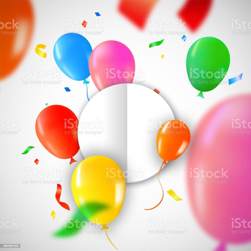 Modele De Carte Joyeux Anniversaire Avec Des Ballons De Fete Vecteurs Libres De Droits Et Plus D Images Vectorielles De Anniversaire Istock