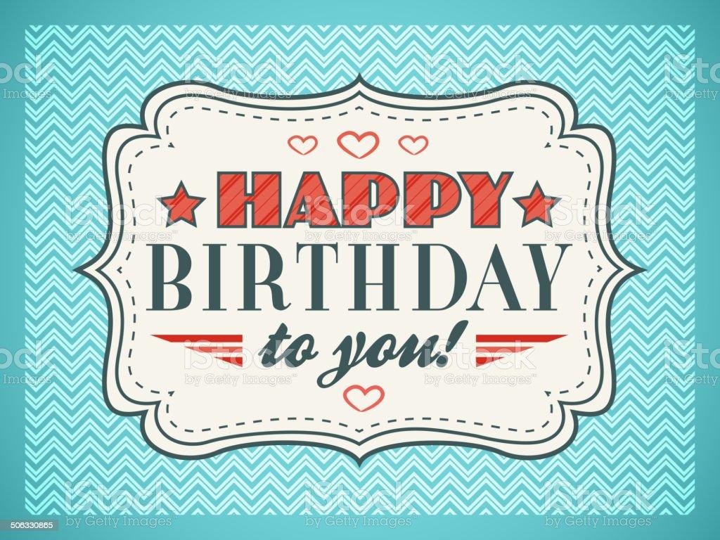 Happy Birthday Schriftart ~ Alles gute zum geburtstagkarte typografie buchstaben schriftart stock vektor art und mehr bilder