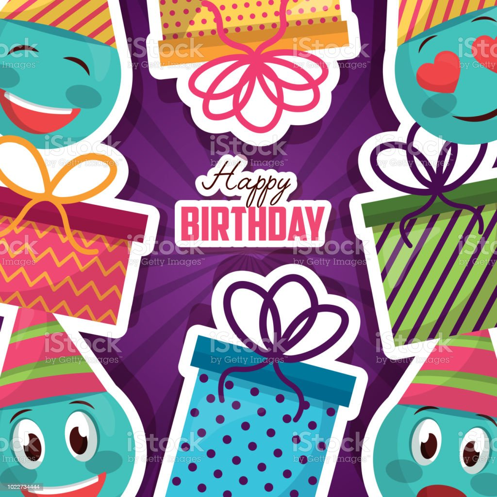 Groovy Happy Birthday Card Stock Illustration Download Image Now Istock Funny Birthday Cards Online Alyptdamsfinfo