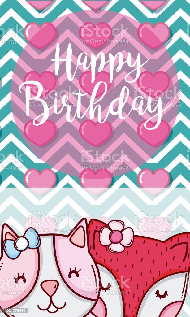 Happy Birthday Card Lizenzfreies Stock Vektor Art Und Mehr Bilder Von Ankundigung