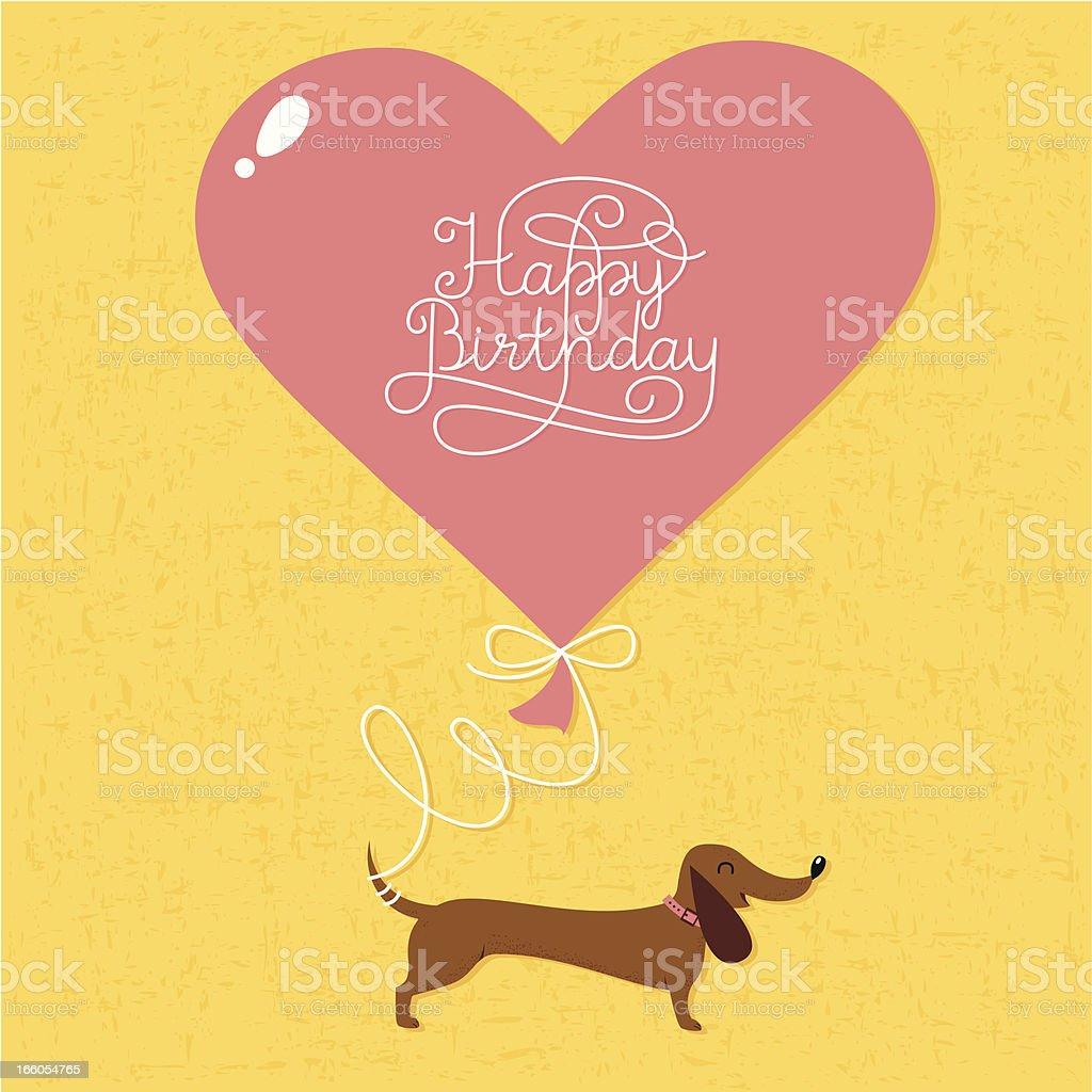 Happy birthday card vector art illustration