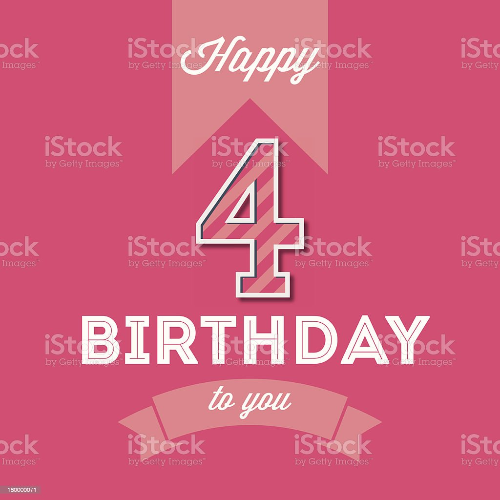 Happy birthday card royalty-free stock vector art