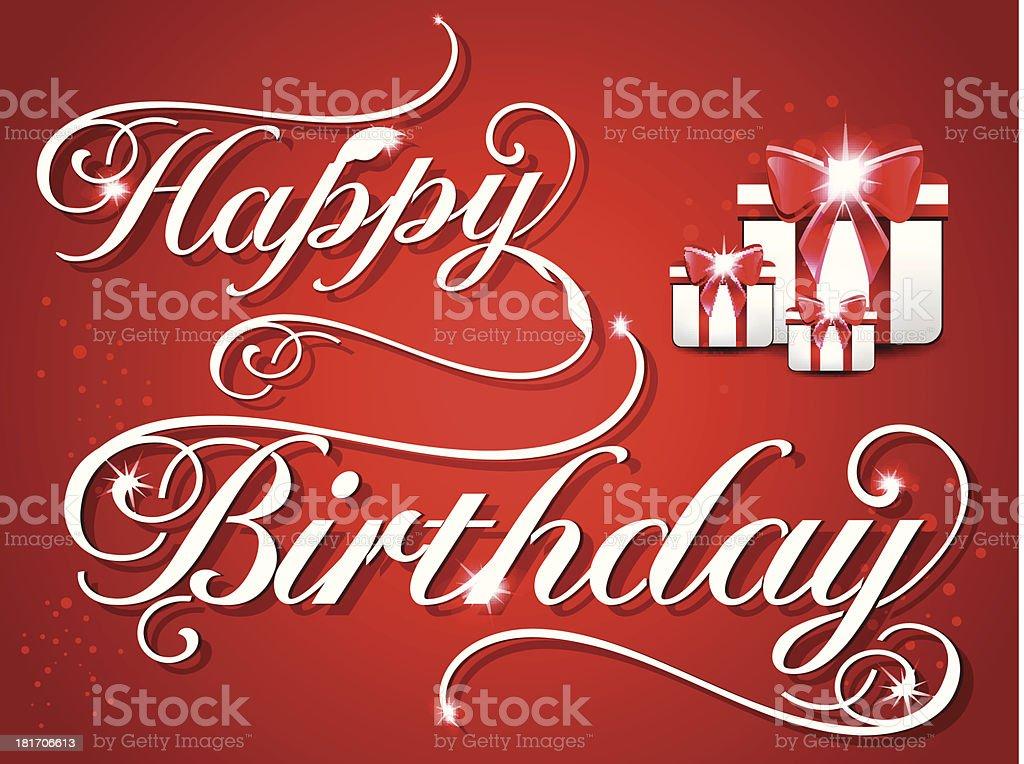 happy birthday card royalty-free stock vector art