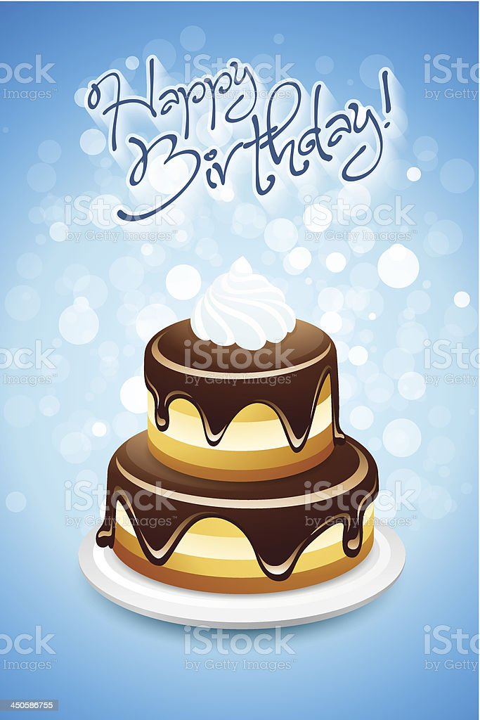 Happy Birthday Card royalty-free happy birthday card stock vector art & more images of baked