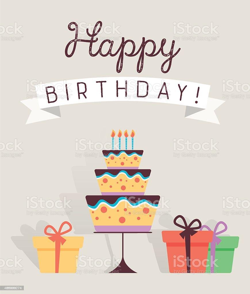 Happy Birthday Card stock vector art 486999274 – Birthday Card Art