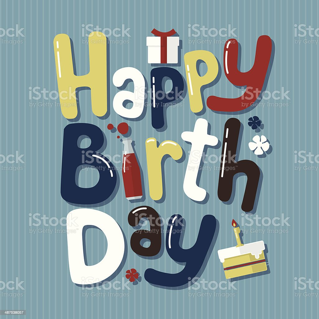 Happy Birthday Card vector art illustration