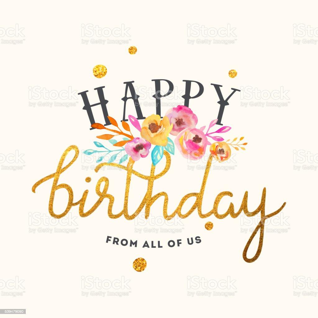 Happy Birthday Card Lizenzfreies Stock Vektor Art Und Mehr Bilder Von Alt
