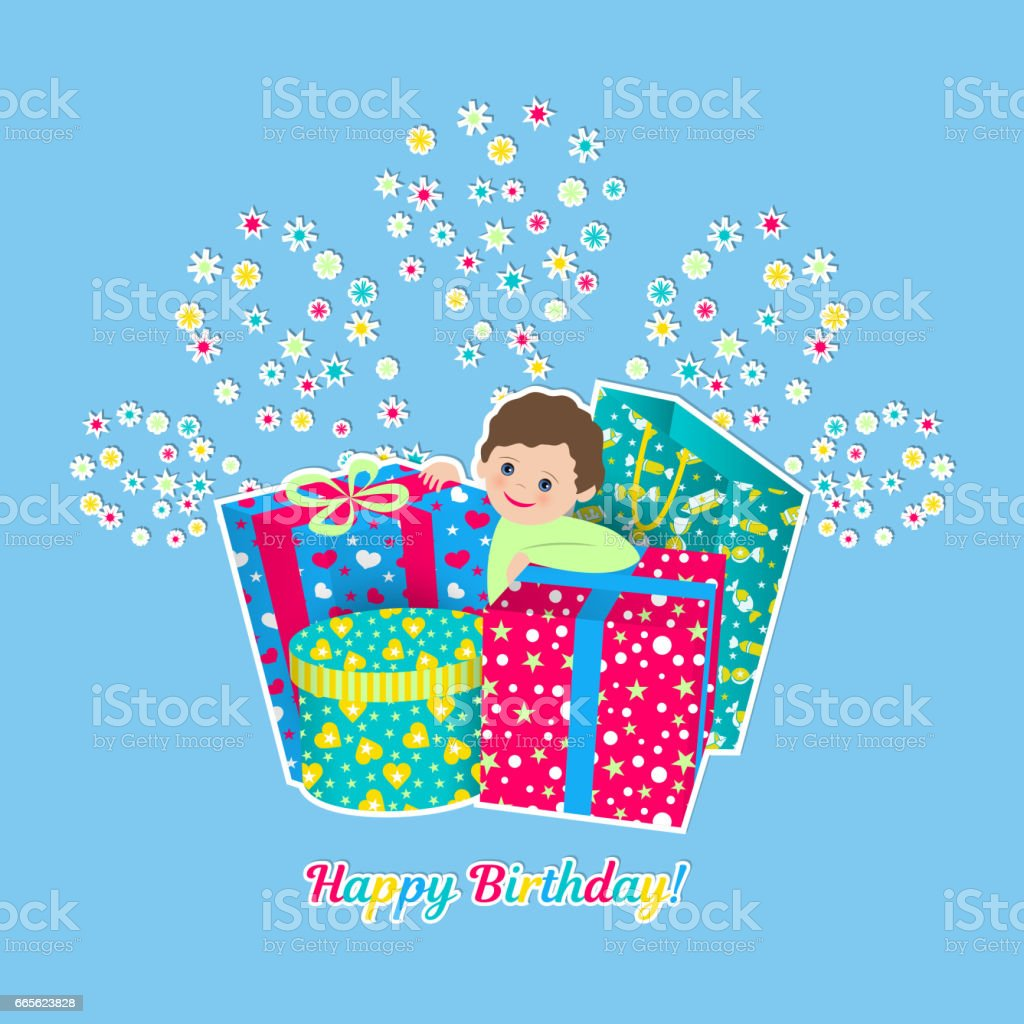 Happy Birthday Card Stock Vector Art More Images Of ACL Live