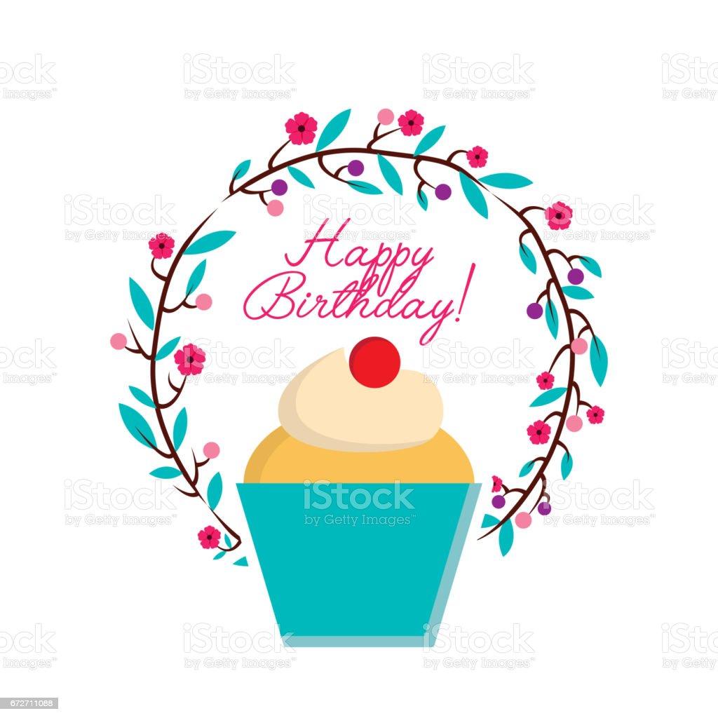 Happy Birthday Card Lizenzfreies Stock Vektor Art Und Mehr Bilder Von Backen