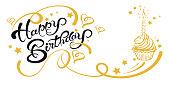 Happy Birthday Card, Vector Image