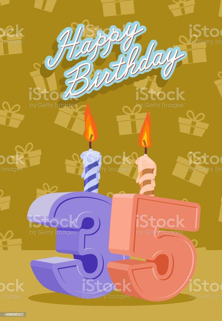 Alles Gute Zum Geburtstagkarte Mit Der 36 Geburtstag Stock Vektor