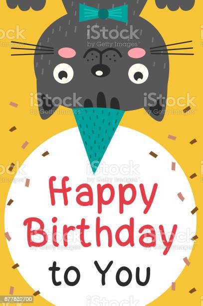 Happy birthday card with black cat vector id877832700?b=1&k=6&m=877832700&s=612x612&h=h3bchc1epqtr7riydi9o8ur1pemg 94cymvjq2ycn0k=
