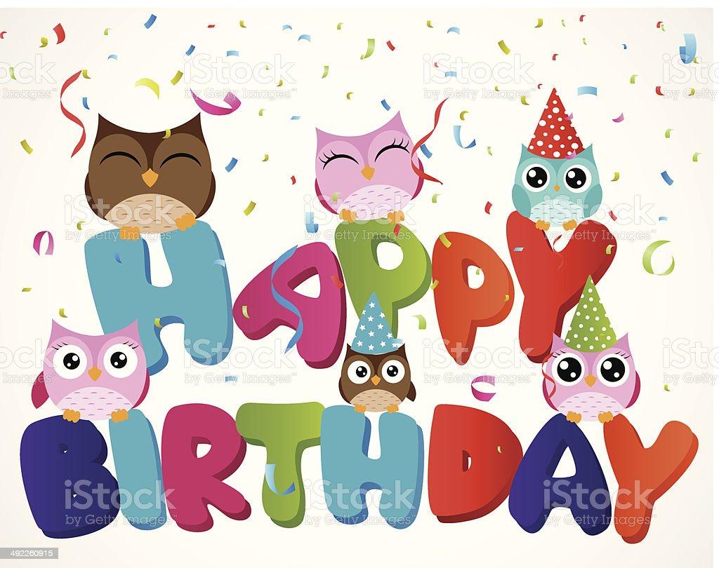 Поздравление с днем рождения сова